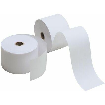 Kores Kassenrollen, 57 mm x 25 m x 12 mm, holzfrei, weiß