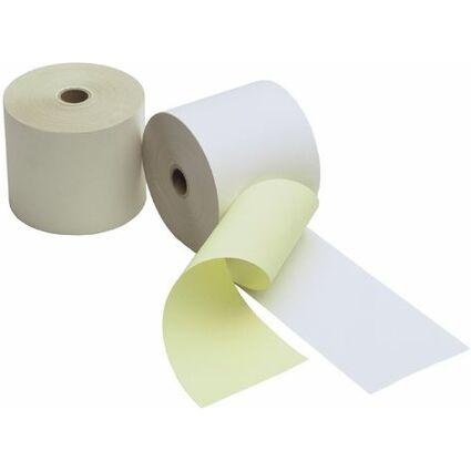 Kores Kassenrollen, 2-lagig weiß/gelb, 76 mm x 25 m x 12 mm