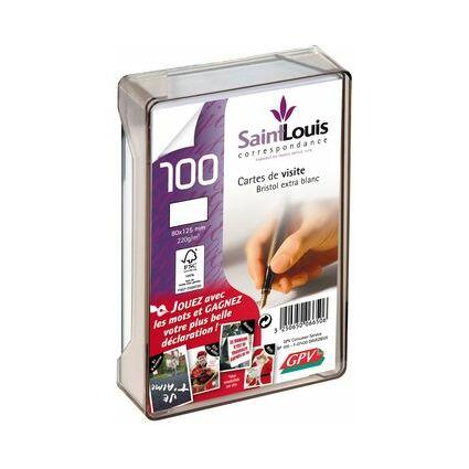 GPV Visitenkarten-Box, aus Plexiglas, 82 x 128 mm