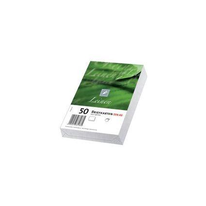 PAPYRUS Briefkarte EcoClassic Leinen, DIN A6, weiß
