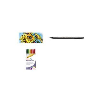 PentelArts Fasermaler Colour Pen, 12er Etui