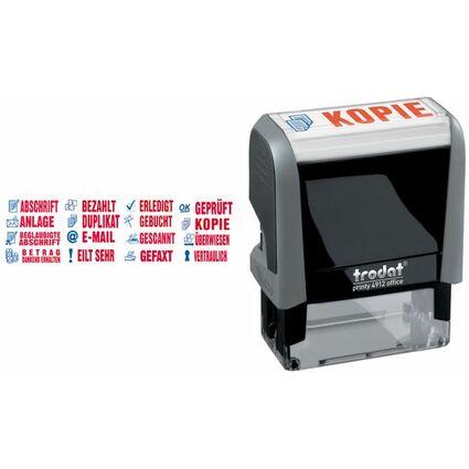 "trodat Textstempelautomat ECO Printy Office 4912 ""GEBUCHT"""
