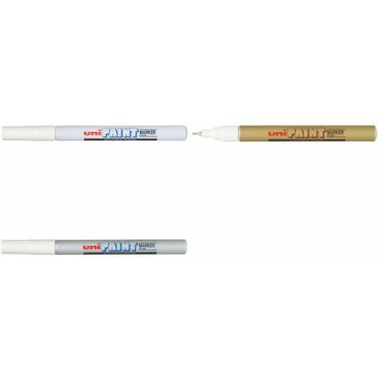 uni-ball Permanent-Marker PAINT (PX-203), silber