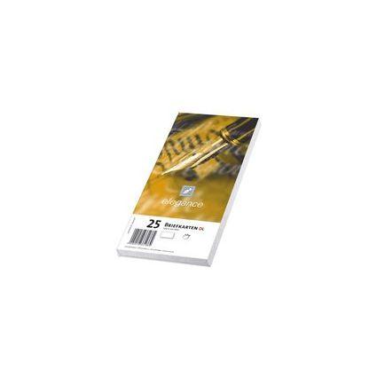 PAPYRUS Briefkarte elegance, DIN lang, hochweiß