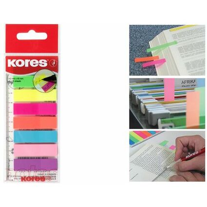 Kores Pagemarker - Folie, 12 x 45 mm, Neonfarben