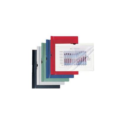 HETZEL Cliphefter, schwarzer Clip, DIN A4, PVC, dunkelblau