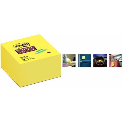 Post-it Haftnotiz-Würfel Super Sticky Notes, 76 x 76 mm
