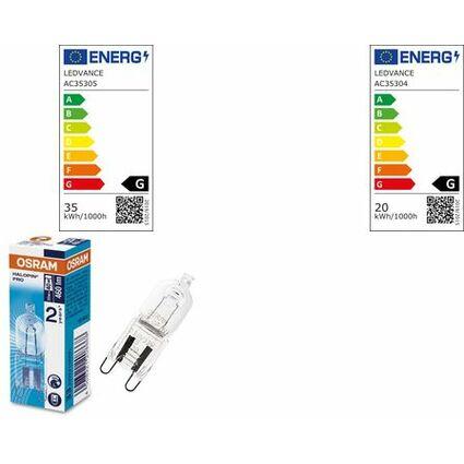 OSRAM Halogenlampe HALOPIN PRO, klar, 20 Watt, G9