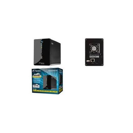 "fantec Externes 2 x 3,5"" Netzwerk RAID Gehäuse, 2 x 2.000 GB"