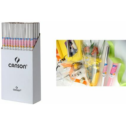 CANSON Geschenkfolie transparent, 35 my, 50er Display