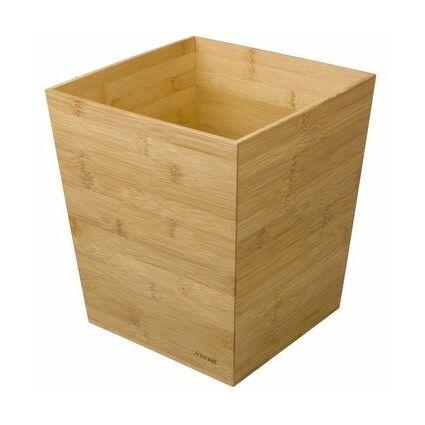 Rexel Papierkorb, aus Bambus, 13 Liter