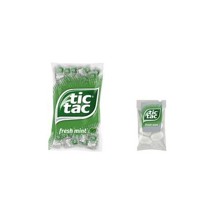 Tic Tac Mints Pfefferminzdragees, in Klarsichtrunddose