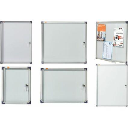 nobo Schaukasten, extraflach, Metall-Rückwand, 2 x DIN A4