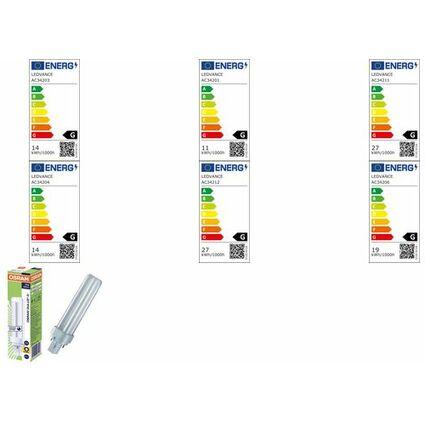 OSRAM Kompaktleuchtstofflampe DULUX D, 26 Watt, G24d-3