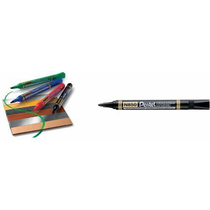 Pentel Permanent-Marker N850, schwarz, Rundspitze