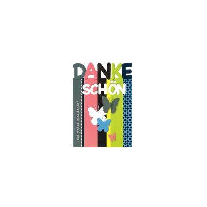 HORN Danksagungskarte - Farbige Textgestaltung -