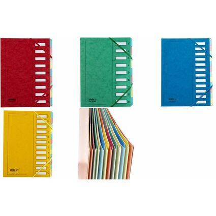 extendos Ordnungsmappe, DIN A4, Karton, 6 Fächer, blau