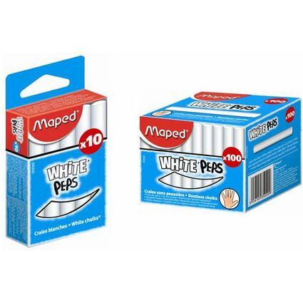 Maped Wandtafelkreide WHITE'PEPS, rund, weiß
