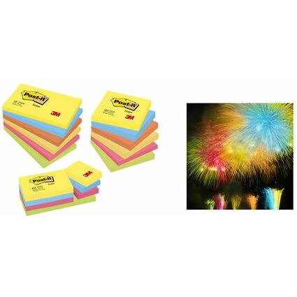 Post-it Haftnotizen Active Collection, 51 x 38 mm, sortiert