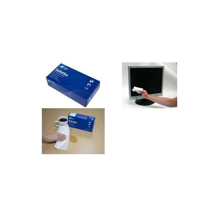 """AF Papier-Bildschirm-Reinigungstücher """"Safetiss"""", einlagig"""