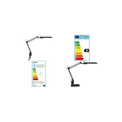 unilux Energiespar-Tischleuchte MAMBO, Farbe: schwarz