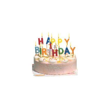 """SUSY CARD Kuchenkerzen """"HAPPY BIRTHDAY"""", Wachs-Buchstaben"""
