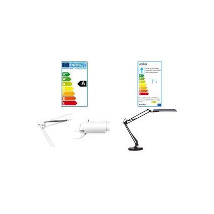 unilux Energiespar-Tischleuchte SWINGO mit Sockel, weiß