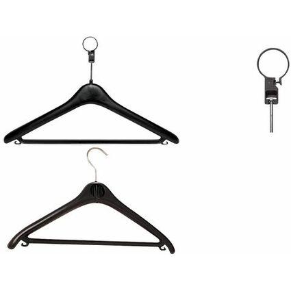 "unilux Kleiderbügel ""KLASSIK"", aus Plastik, Farbe: schwarz"