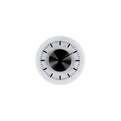 "unilux Wanduhr ""On Time"", aus Kunststoff, silber"