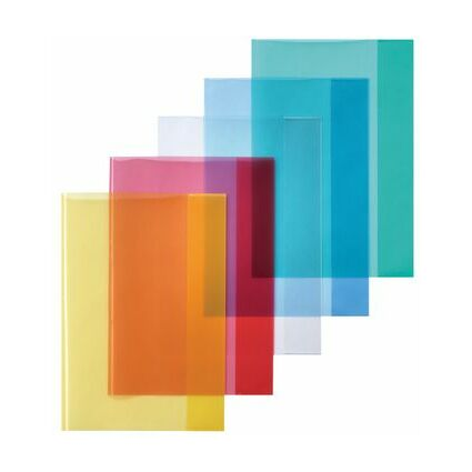 herlitz Heftschoner DIN A4, PP, transparent-blau