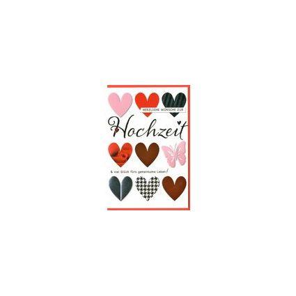 HORN Hochzeitskarte - Motiv-Herzen