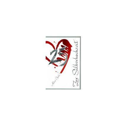 HORN Hochzeitskarte - Silberhochzeit - Tassen -