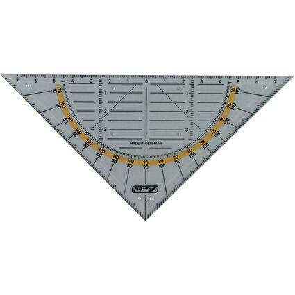 herlitz Geodreieck, Hypotenuse: 200 mm, mit Griffleiste
