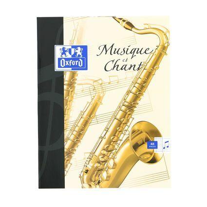Oxford cahier de musique, 170 x 220 mm, séyès, 48 pages