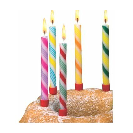 """SUSY CARD Geburtstagskerzen """"Zuckerstange"""", aus Wachs, glatt"""