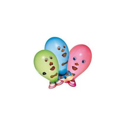 "SUSY CARD Luftballons ""Funny Face"", farbig sortiert"