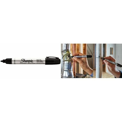 Sharpie Permanent-Marker METAL SMALL, Keilspitze, schwarz