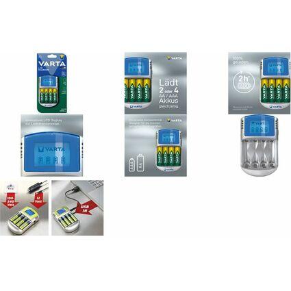 VARTA Ladegerät LCD Charger, USB, mit 12 V Adapter
