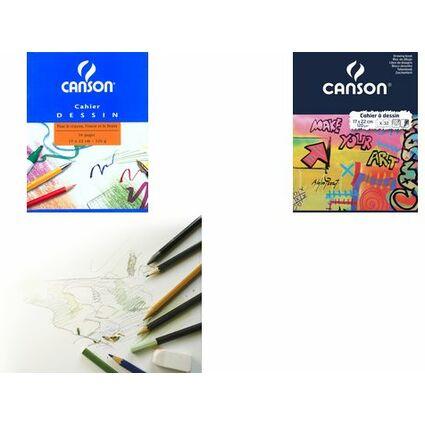 CANSON Zeichenblock, blanko, 125 g/qm, 240 x 320 mm