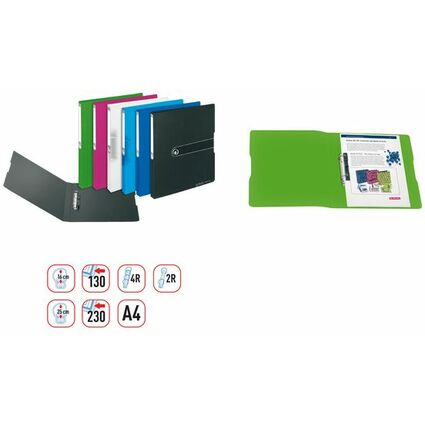 herlitz Ringbuch easy orga to go, A4, 2-Ring, weiß-