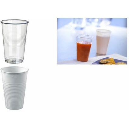 PAPSTAR Kunststoff-Trinkbecher PP, 0,2 l, transparent