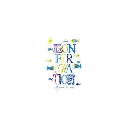 HORN Konfirmationskarte - Patchwork - inkl. Umschlag