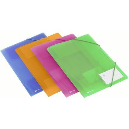 Rexel Eckspannermappe ICE, DIN A4, PP, farbig sortiert