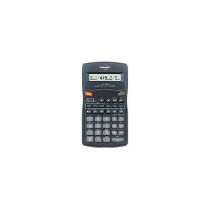 SHARP Schulrechner EL-500 W, Batteriebetrieb
