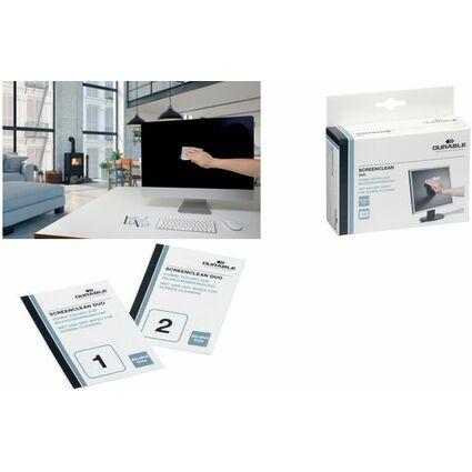 DURABLE Bildschirm-Reinigungstücher SCREENCLEAN DUO