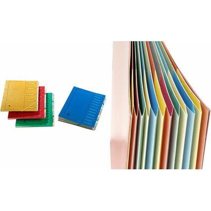 extendos Ordnungsmappe 223, aus Karton, 12 Fächer, blau