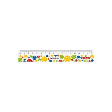 "herlitz Flachlineal SmileyWorld ""Rainbow"", 170 mm lang"