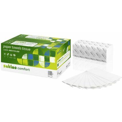 wepa Handtuchpapier Comfort, 250 x 230 mm, V-Falz, naturweiß