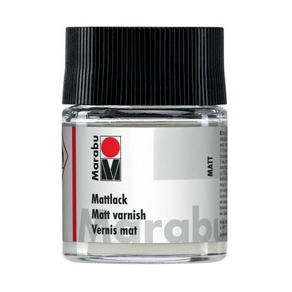 Marabu Mattlack, matt, 50 ml, im Glas