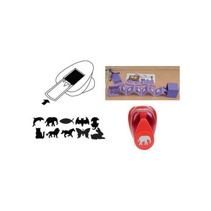 HEYDA Motiv-Locher Löwe, klein, Farbe: rot